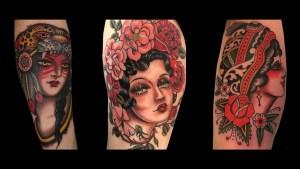 girl head tattoos