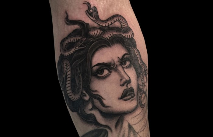 Justin Weatherholtz Medusa Tattoo