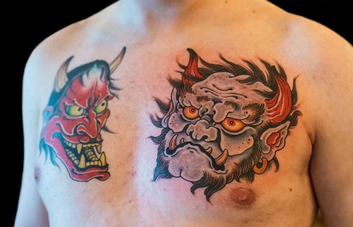 Oni Tattoo by Justin Weatherholtz