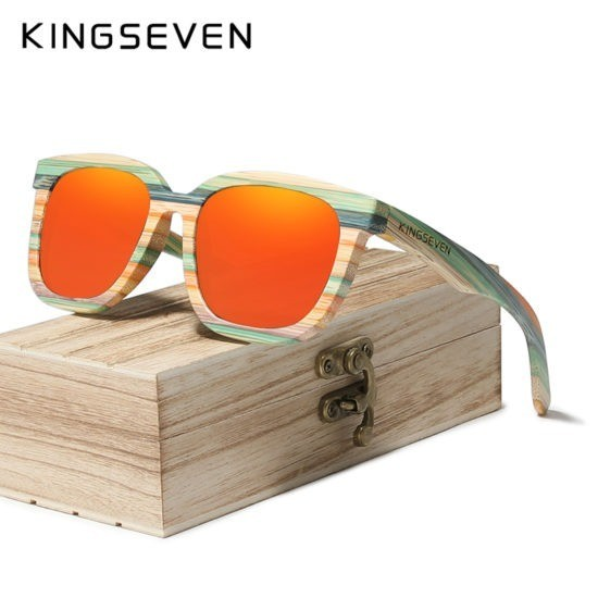 kingseven sunglasses bamboo