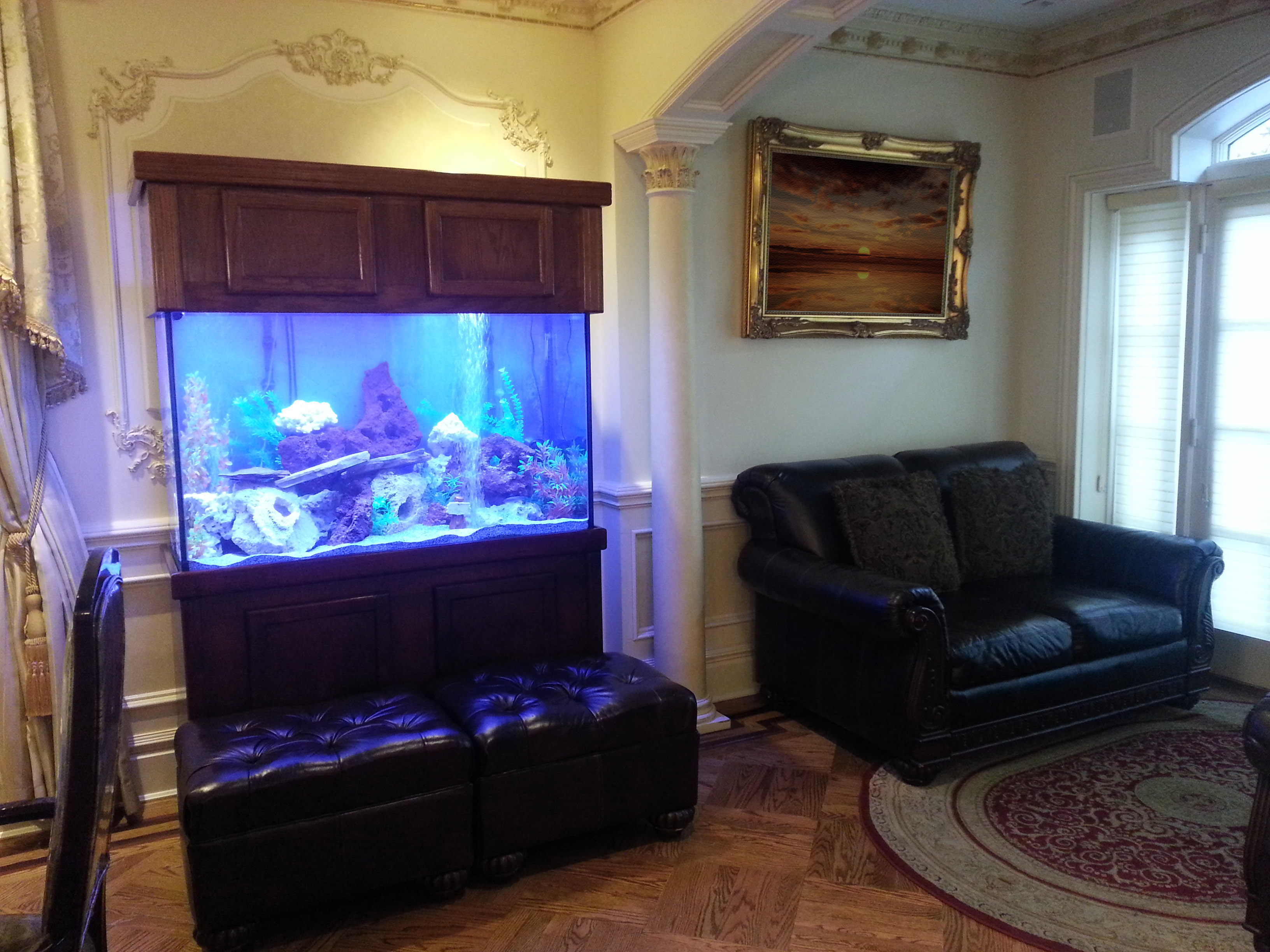 Bill Gates House Aquarium Living Room
