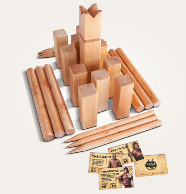 Kings Viking Chess & Kubb set what the game consists of