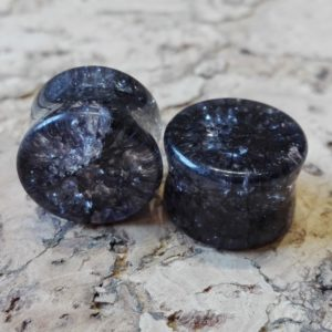 Black Craked Glass Plug