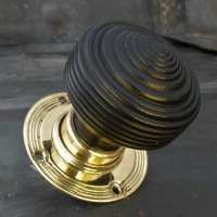 Wooden Ebonised Edwardian Door Knob (EED)