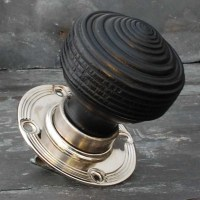 Edwardian Ebonised Door Knobs