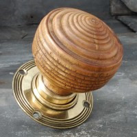 Oak Edwardian Style Door Knob