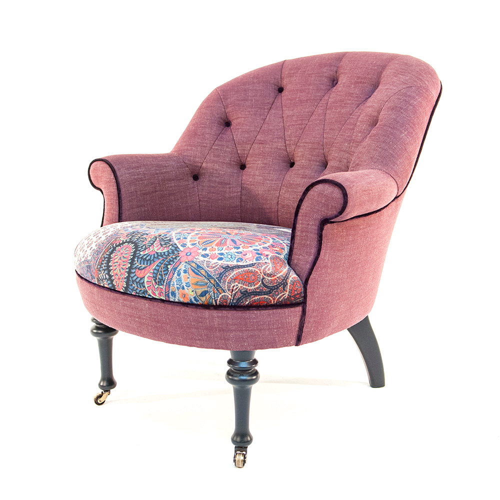Best Chairs Ferdinand In John Sankey Ferdinand Chair In Linen And Floral Velvet Kings