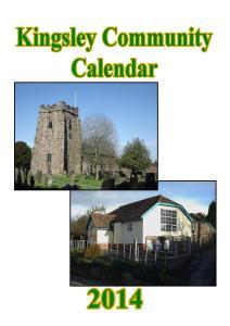 Kingsley Calendar 2014