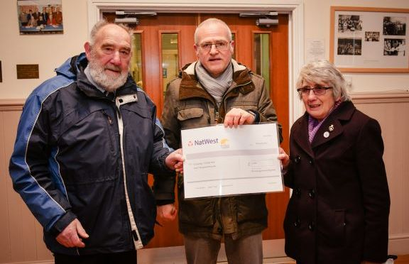 Hall presented with cheque from the kingsley fund