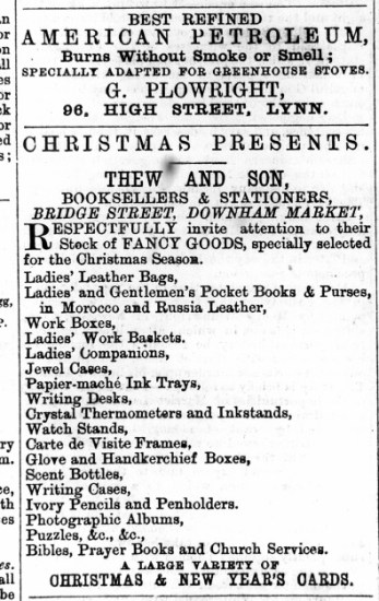 1875 December 25th Thew & Son @ Nos 1 to 4