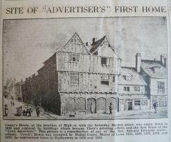 1940 Feb 28th Lynn Advertiser Centenary Coneys House