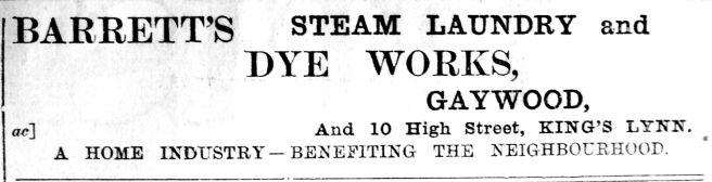 1904 Mar 11th Barretts Laundry