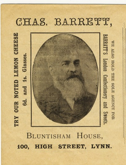 1901 Mar 12th &13th Stepney Bazaar prog Chas Barrett