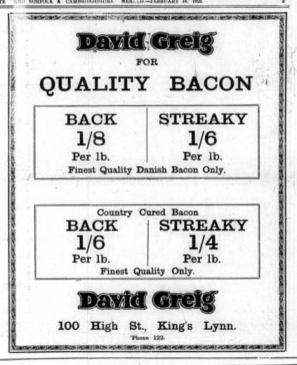 1923 Feb 16th David Greig @ No 100