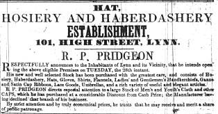 1847 Sept 25th R P Pridgeon