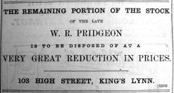 1900 June 22nd the late W R Pridgeon