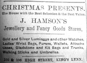 1919 Dec 19th Hamsons Xmas gifts