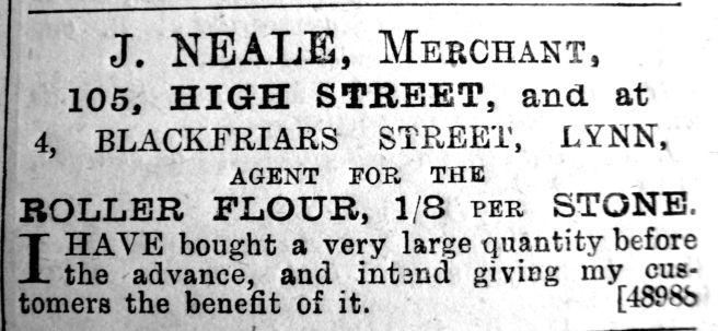 1891 Nov 14th J Neale