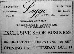 1960 Oct 7th Legge & Son Ltd opening