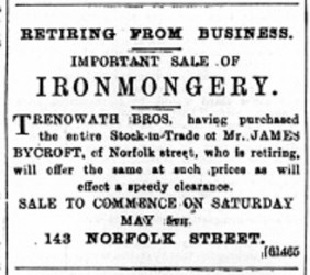 1894 April 28th Trenowath Bros buy Bycroft