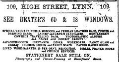1889 Oct 9 Lyn News Dexter 109