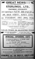 1932 Dec 16th Sterlings Footwear opens