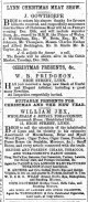 1873 Dec 13th William Jex @ No 11