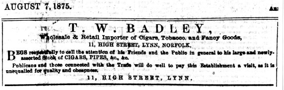 1875 Aug 7th T W Badley128
