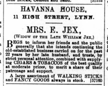 1893 July 1st Mrs E Jex @ No 11 (3)