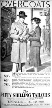1937 Oct 29th Fifty Shilling Tailors