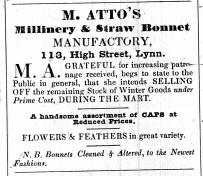 1843 Feb 14th Mrs Atto @ 113