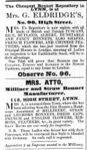 1843 May 23rd Mrs Atto @ 113