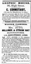 1843 Nov 7th Mrs Atto @ 113