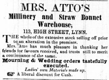 1854 Feb 25th Mrs Atto @ 113