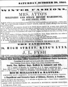 1854 Oct 28th Mrs Atto @ No 113