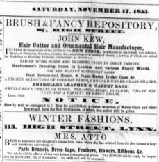 1855 Nov 17th Mrs Atto @ No 113