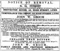 1876 March 18th John W Groom @ No 113