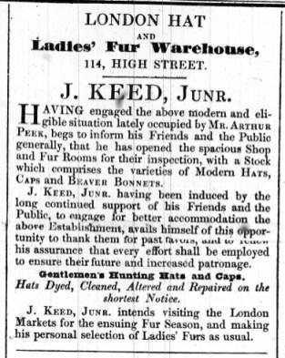 1842 July 5th J Keed @ 114