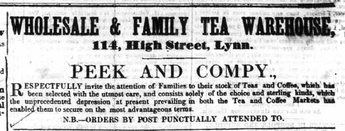 1847 April 1st Peek & Co @ 114