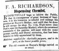 1852 Sept 25th F A Richardson @ No 114a