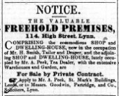 1853 June 18th H Smith No 114 for Sale