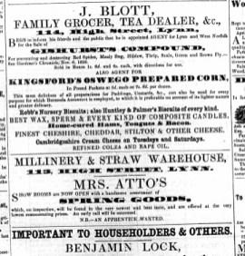 1859 April 9th J Blott @ No 114