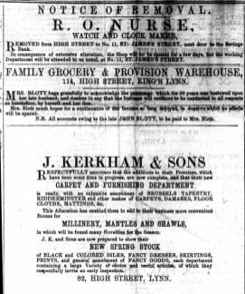 1867 April 13th Mrs BLOTT @ 114