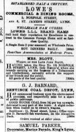 1888 August 4th Mrs Eleanor Blott @ Norfolk St ex No 114