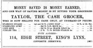 1888 July 21st Taylor @ No 114