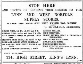 1889 July 13th C H Taylor @ No 114