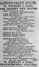 1893 Mar 11th Winkley London Glove House