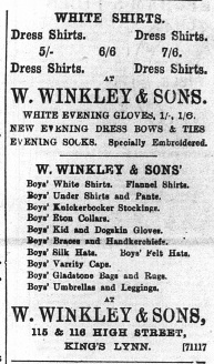1896 Jan 25th W Winkley & Sons @ Nos 115 & 116