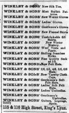 1896 Oct 21st W Winkley @ Nos 115 & 116