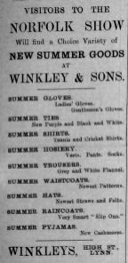 1910 June 16th Winkley Nfk Show